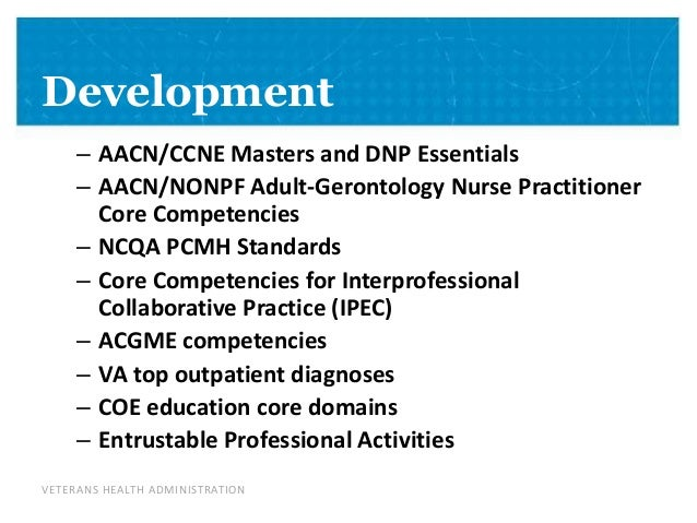 nonpf competencies The enp competencies have been endorsed by the ana and the nonpf the  nonpf has since updated its core competencies (nonpf, 2012.