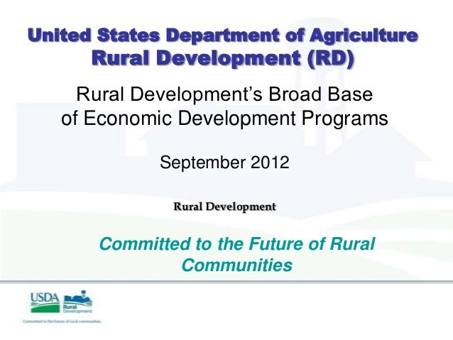 Accessing Usda Rural Development Programs For