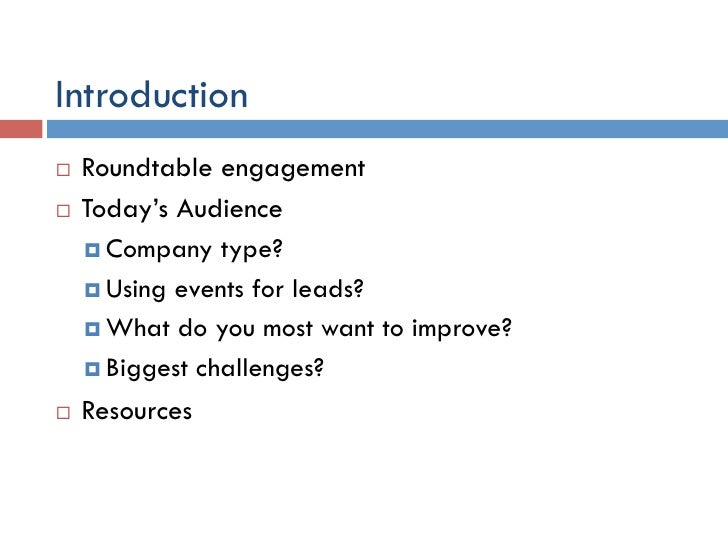 NorCal BMA: Sales Leads Roundtable: Maximize Leads Oct 2011 Slide 3