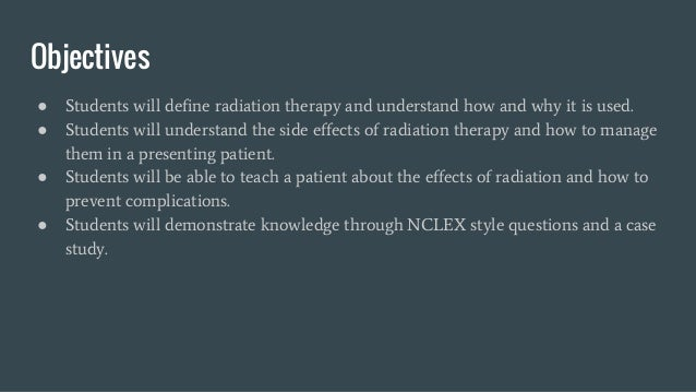 Radiation therapy Slide 2