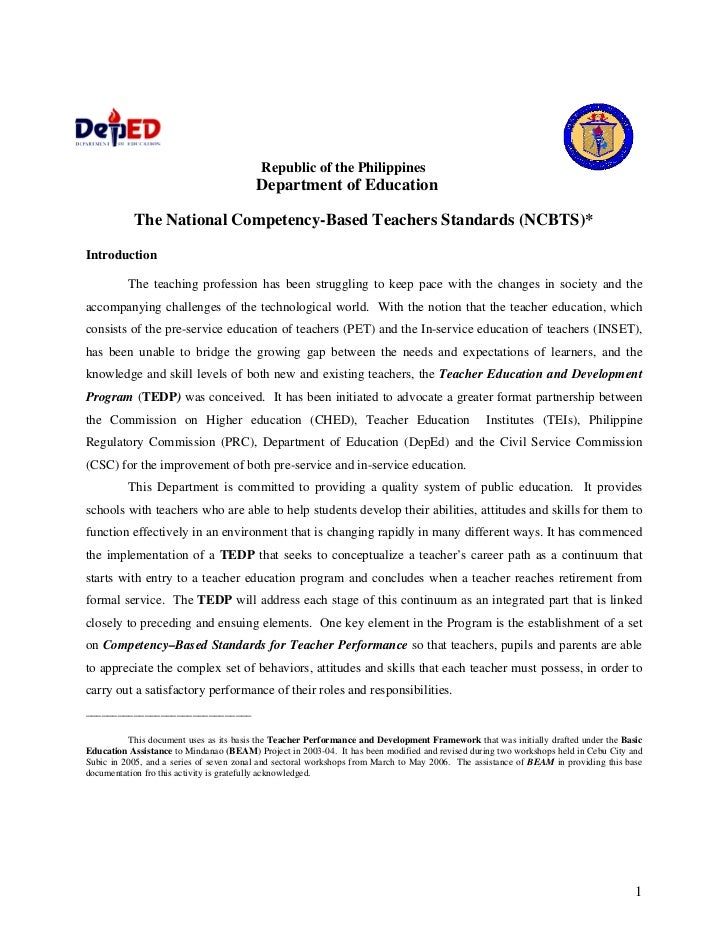 Republic of the Philippines                                          Department of Education             The National Comp...