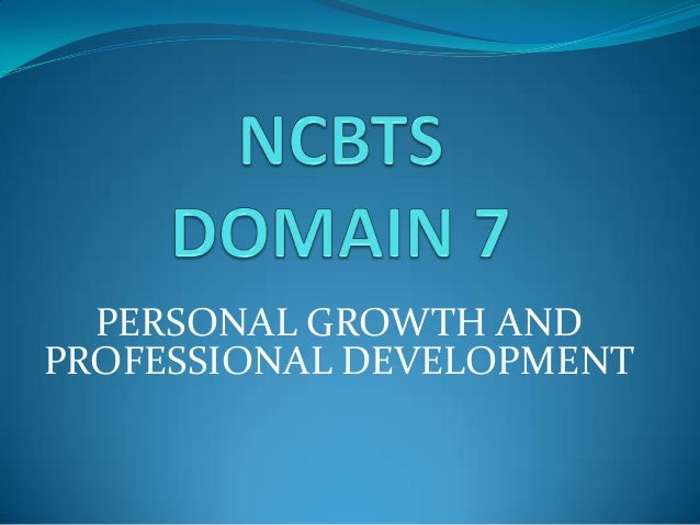 PERSONAL GROWTH ANDPROFESSIONAL DEVELOPMENT