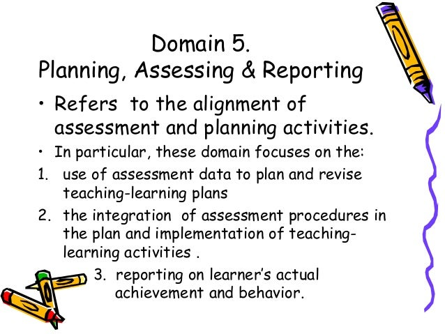 ncbts domain 5 planning assessing and reporting