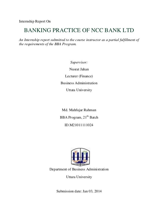 Internship report of ncc bank on remittance