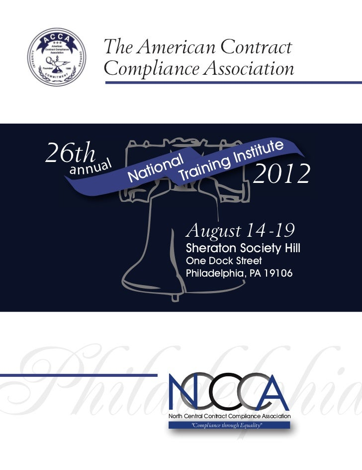 The American Contract       Compliance Association 26thual                    stitute                  al ning In   a nn  ...