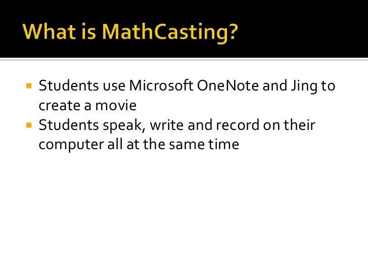 MathCasting-Teaching Math Digitally Slide 2