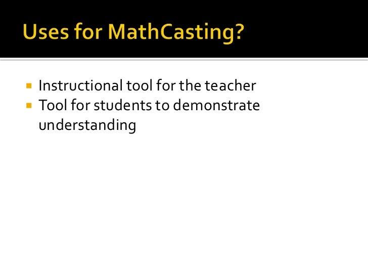 MathCasting-Teaching Math Digitally Slide 3