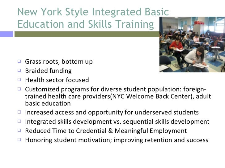 I-BEST New York Style :Integrated Health Career Training Programs at …
