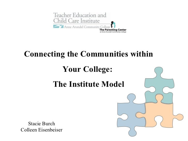 Slow Busy Mood Connecting the Communities within Your College:  The Institute Model Stacie Burch Colleen Eisenbeiser