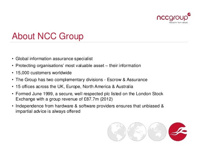 Ncc group overview presentation august 2012 final