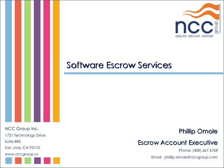 NCC Group Software Escrow Services