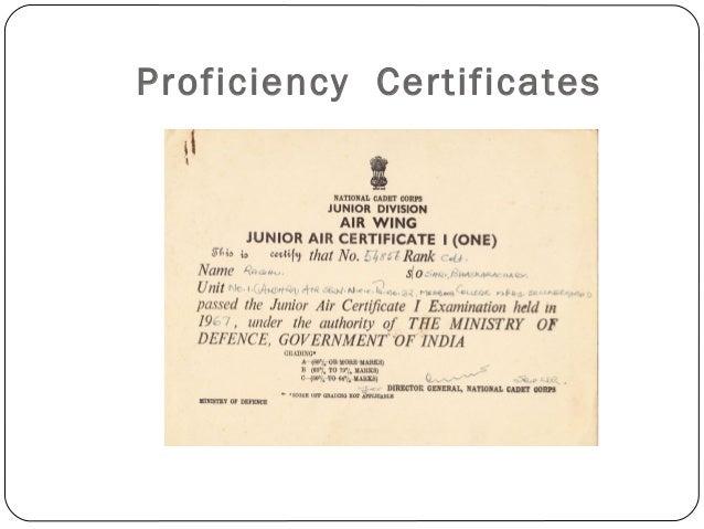Proficiency Certificates