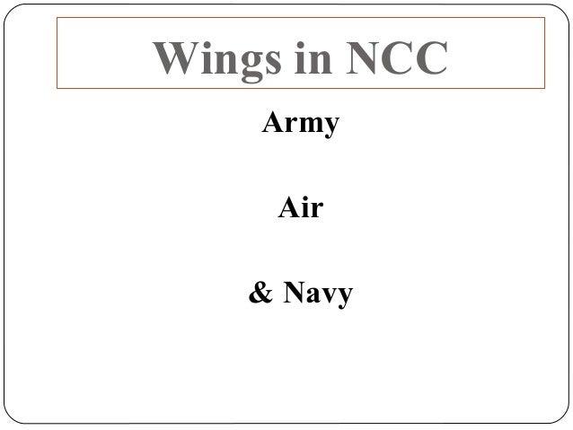 Wings in NCC Army Air & Navy