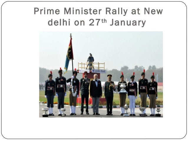 Prime Minister Rally at New delhi on 27th January