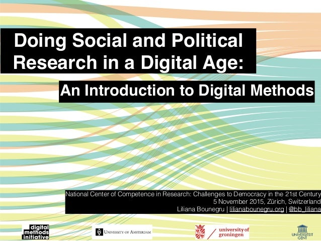 Doing Social and Political Research in a Digital Age: National Center of Competence in Research: Challenges to Democracy i...