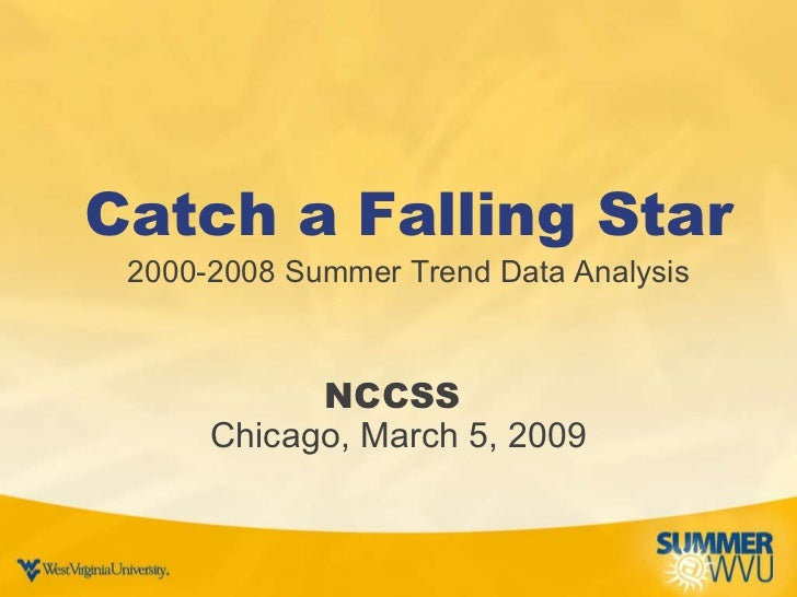Catch a Falling Star 2000-2008 Summer Trend Data Analysis NCCSS  Chicago, March 5, 2009
