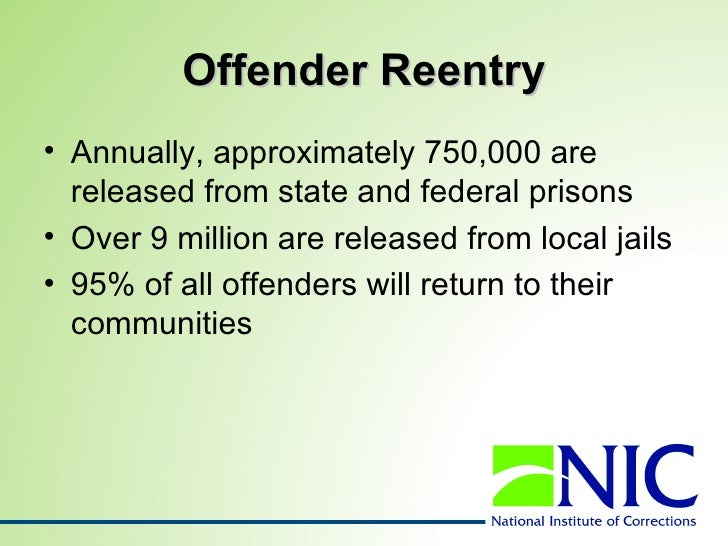 Reentry: Helping Former Prisoners Return to Communities