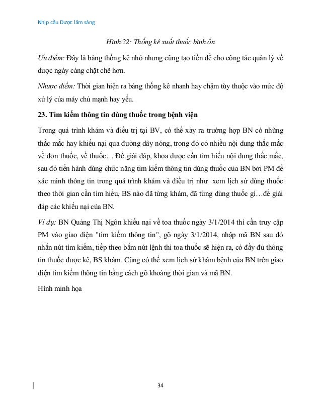 Nhịp cầu Dược lâm sàng 34 Hình 22: Thống kê xuất thuốc bình ổn Ưu điểm: Đây là bảng thống kê nhỏ nhưng cũng tạo tiền đề ch...
