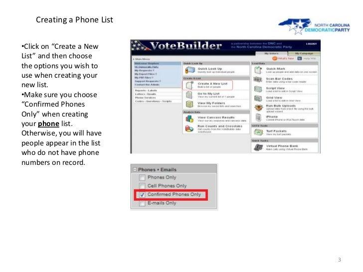 Pulling Targeted GOTV Calls Slide 3
