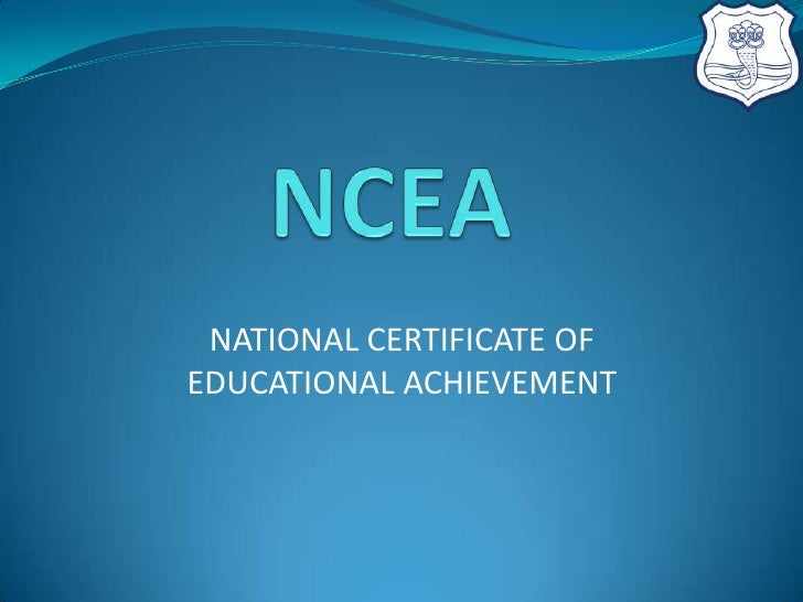 NATIONAL CERTIFICATE OFEDUCATIONAL ACHIEVEMENT