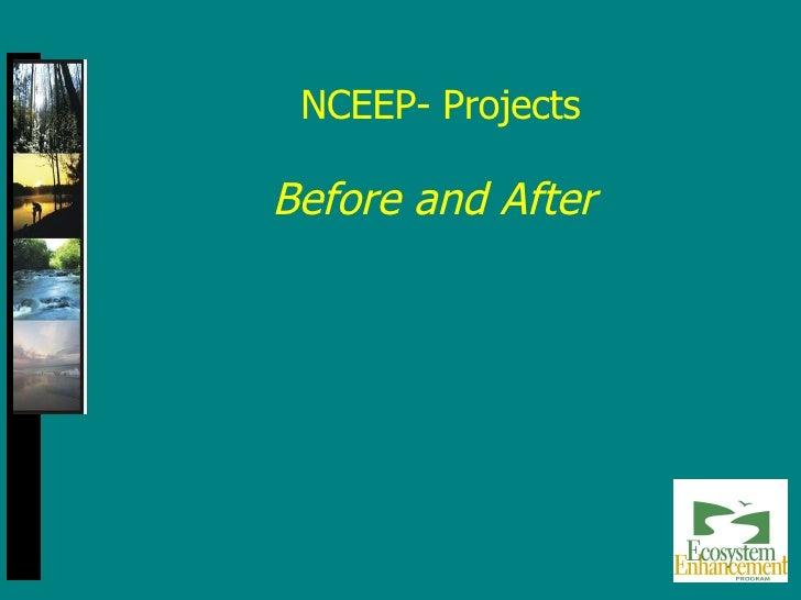NCEEP- Projects <ul><li>Before and After </li></ul>