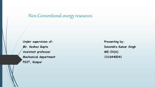 Energy non khan conventional sources pdf bh