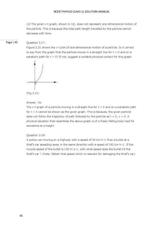 Ncert solutions for class 11th physics