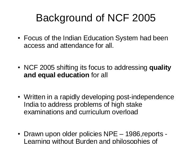 Pdf ncf 2005