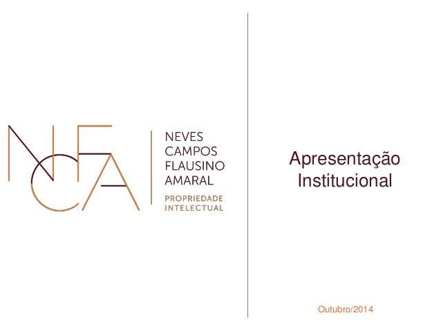 Apresentação  Institucional  Outubro/2014