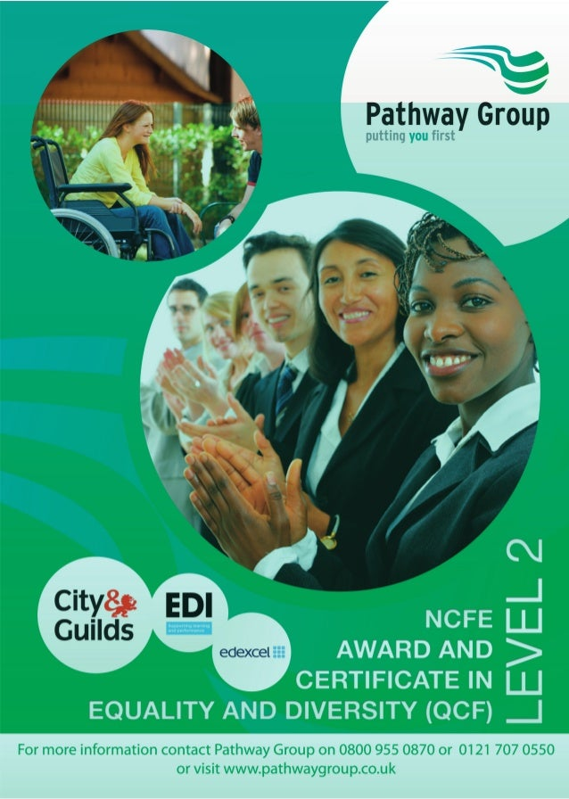 Equality and Diversity NCFE Certificate Level 2