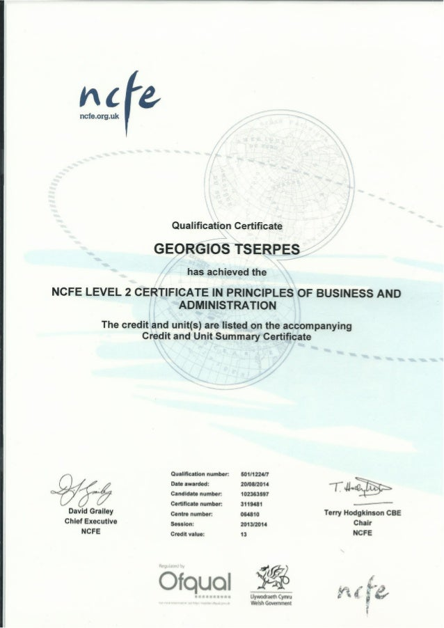 l2 cert in principles of business You are here: home  qualifications  l2 certificate in principles of business and administration the 'combined' qualification has therefore also replaced the current nvq and vrq/technical certificate within the respective apprenticeship frameworks at levels 2 and 3 in england, wales and northern.