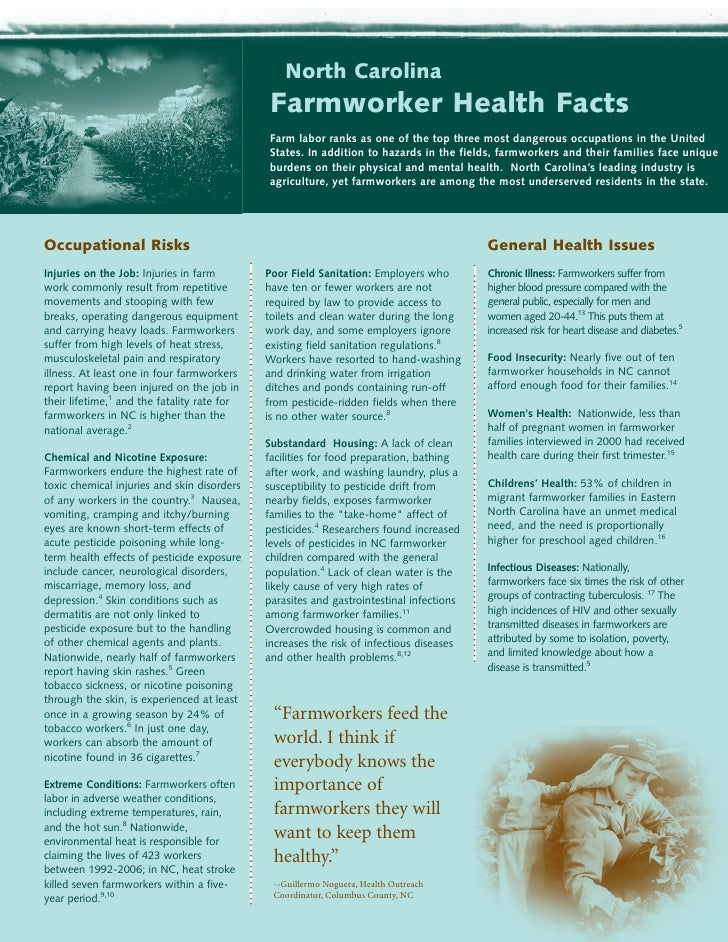 North Carolina                                              Farmworker Health Facts                                       ...