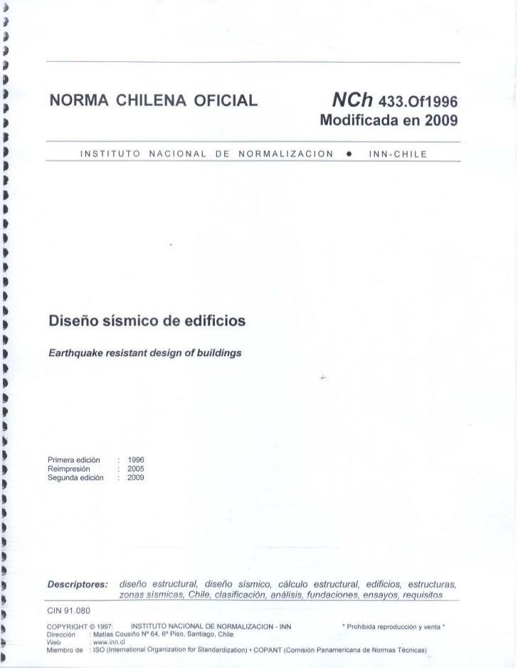 Nch433 of1996 modificada en 2009
