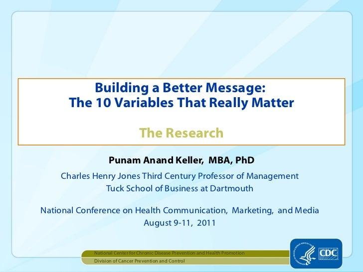 Punam Anand Keller,  MBA, PhD <ul><li>Charles Henry Jones Third Century Professor of Management </li></ul><ul><li>Tuck Sch...