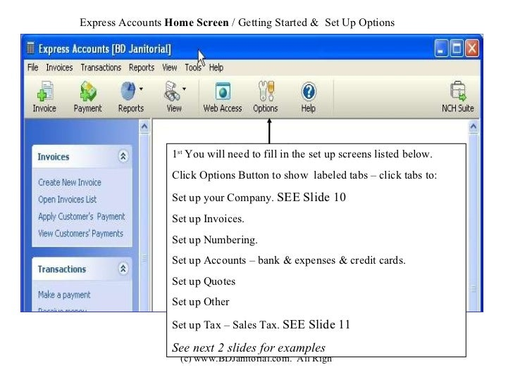 NCH Express Accounts Tutorial - Invoice software nch