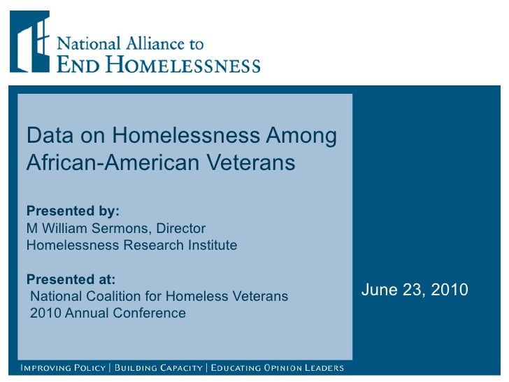 african american s homelessness Basic statistics the data below  percentage of african americans who fell below the poverty  selected population profile in the us: 2016 american community.