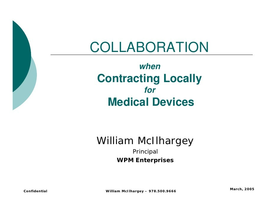COLLABORATION                                when                Contracting Locally                                  for ...