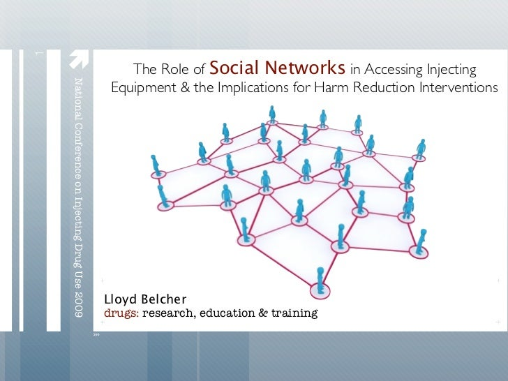 1    National Conference on Injecting Drug Use 2009       The Role of Social Networks in Accessing Injecting             ...