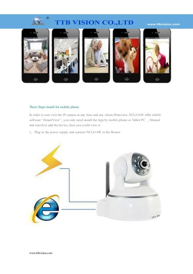 0 3Megapixel wireless IP camera with P2P function NCL614W