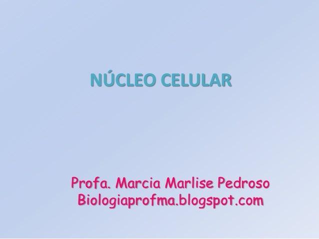 NÚCLEO CELULAR Profa. Marcia Marlise Pedroso Biologiaprofma.blogspot.com