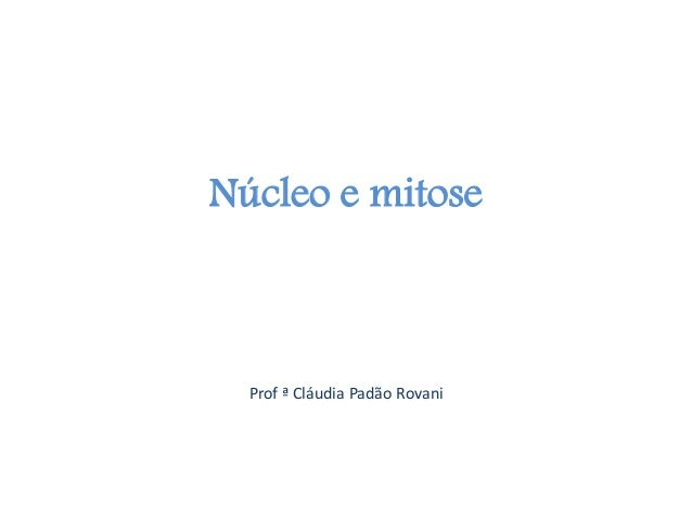 Núcleo e mitoseProf ª Cláudia Padão Rovani
