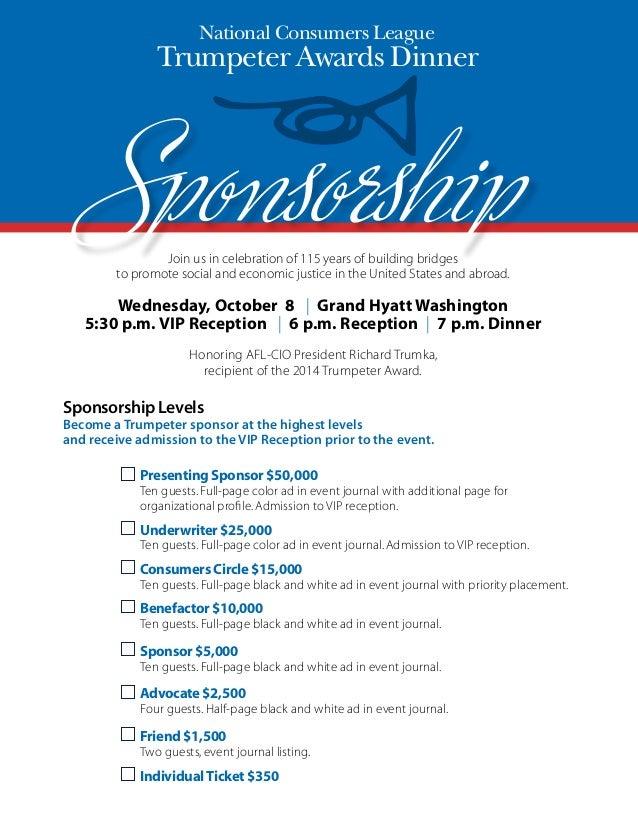 NCL trumpeter awards sponsorship form – Sponsorship Form