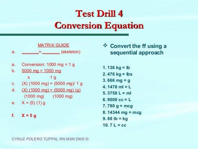 Ncm 100 dosage calculations