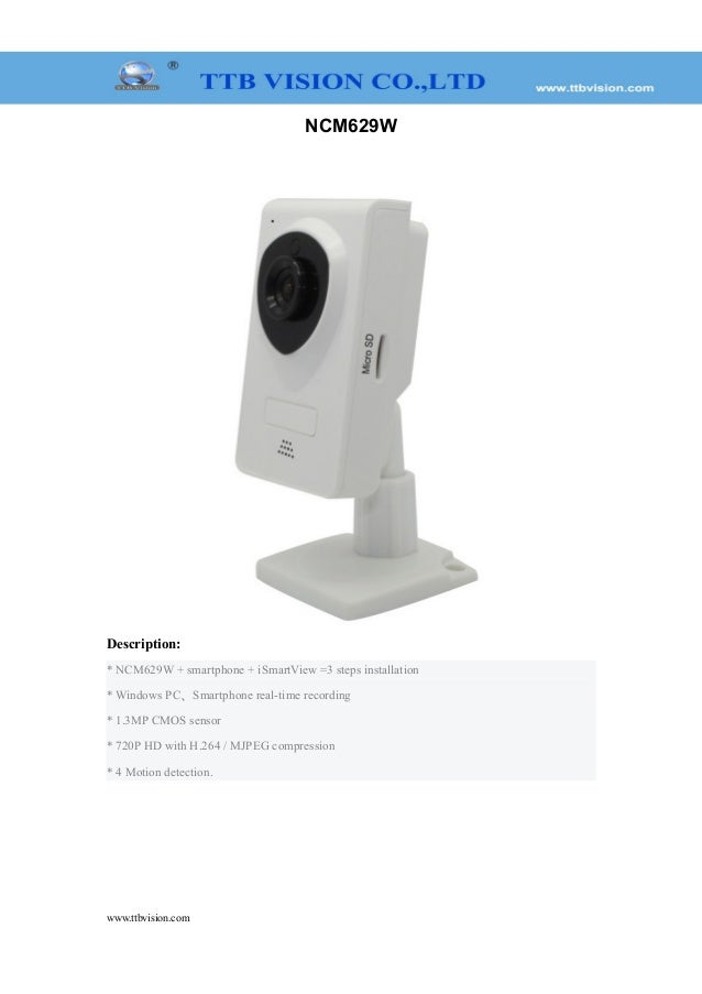 HD720P wireless IP camera with SD/TF Slot support P2P