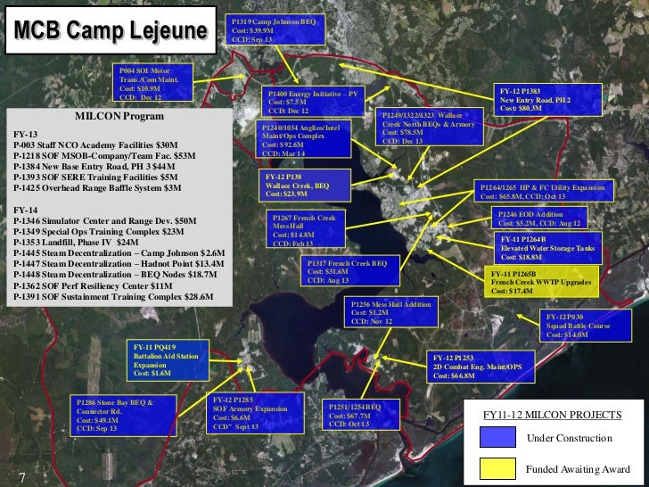 New River Air Station Building Map