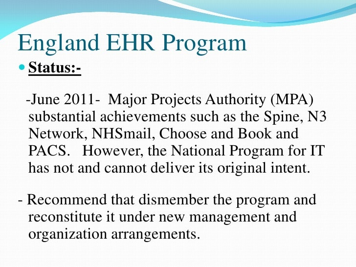 national ehr mandate Electronic health records mandate: quick overview september 12, 2012  the ehr incentive program began in 2012 and the last year to begin participation is 2014.