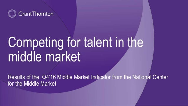 Competing for talent in the middle market