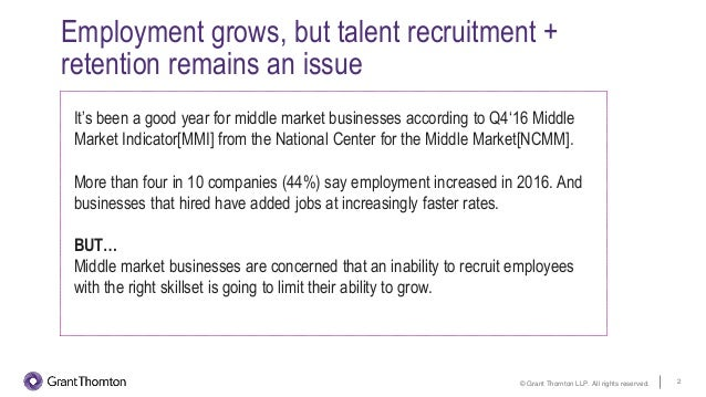 Competing for talent in the middle market Slide 2