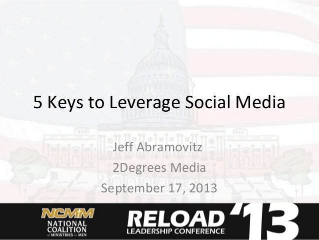 5 Keys to Leverage Social Media Jeff Abramovitz 2Degrees Media September 17, 2013
