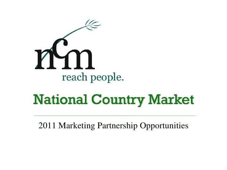 2011 Marketing Partnership Opportunities